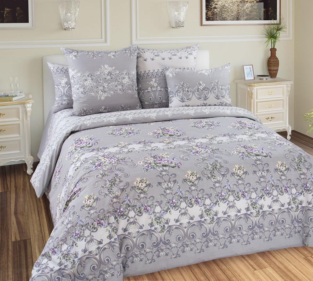 Двуспальный комплект спального постельного белья GoodSon Fleur Перкаль