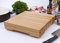 Кухонная доска для разделки мяса из ясеня 30х30х6 см