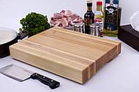 Кухонная доска для рубки, разделки и отбивания мяса из ясеня 30х40х6 см