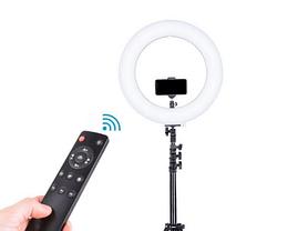 Светодиодная LED лампа с пультом ДУ Ring Fill Light YQ-320A + Студийный штатив Stend 210 см, фото 3