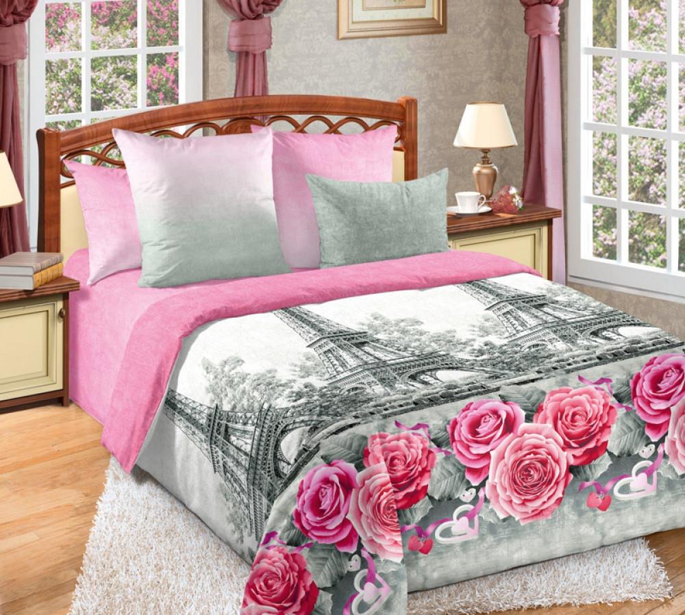 Полуторный комплект спального постельного белья GoodSon Nostalgia, перкаль. Наволочка  50/70см, Цельный подод