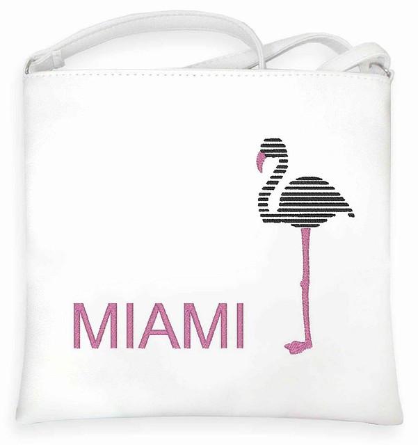 """Сумка - планшет с вышивкой """"Miami"""" С25 - белая"""