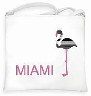 """Сумка - планшет с вышивкой """"Miami"""" С25 - белая, фото 1"""