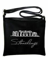 """Сумка - планшет с вышивкой """"Стоунхенж"""" С65 - черная, фото 1"""