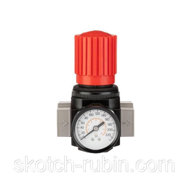 """Регулятор тиску 3/4"""", 1-16 бар, 4500 л/хв, професійний INTERTOOL PT-1427"""