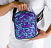 Мужская сумка мессенджер голубая Мозги (сумка через плечо). Живое фото. Реплика