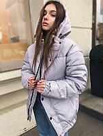 Женская зимняя куртка дутая оверсайз ЗИМА с капюшоном теплая Турция. Живое фото. 4 цвета, фото 1