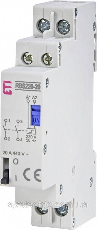 Контактор импульсный RВS 220-20 230V AC (20A, 2NO), ETI, 2464103
