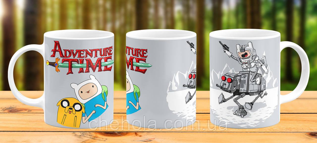 Оригинальная кружка с принтом Adventure Time Прикольная чашка подарок