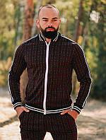 Спортивный костюм мужской ТруТренер бордо осень весна. Живое фото. Чоловічий спортивний костюм, фото 1