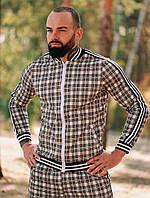 Спортивный костюм мужской ТруТренер серый осень весна. Живое фото. Чоловічий спортивний костюм, фото 1