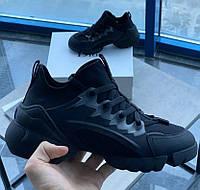 Женские кроссовки Dior D-connect Black. Живое фото. Топ реплика ААА+, фото 1