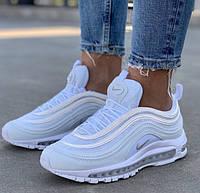 Женские кроссовки Nike Air Max 97 White белые рефлективные 36-40рр. Живое фото. Реплика, фото 1