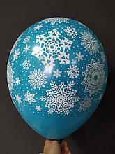 """Латексный шар Латексная шарик с рисунком снежинки 12 """"ассорти Арт-студия"""" Show """""""