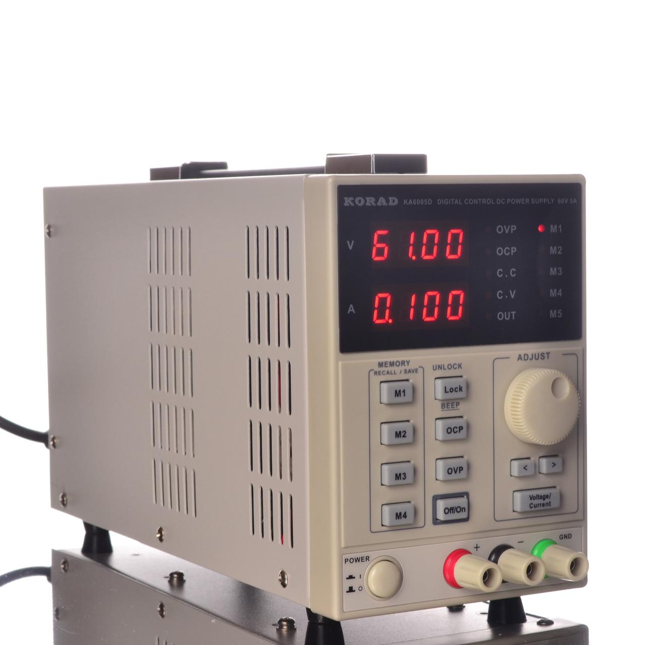 Лабораторный блок питания Korad KA6005D 60V 5A программируемый высокоточный
