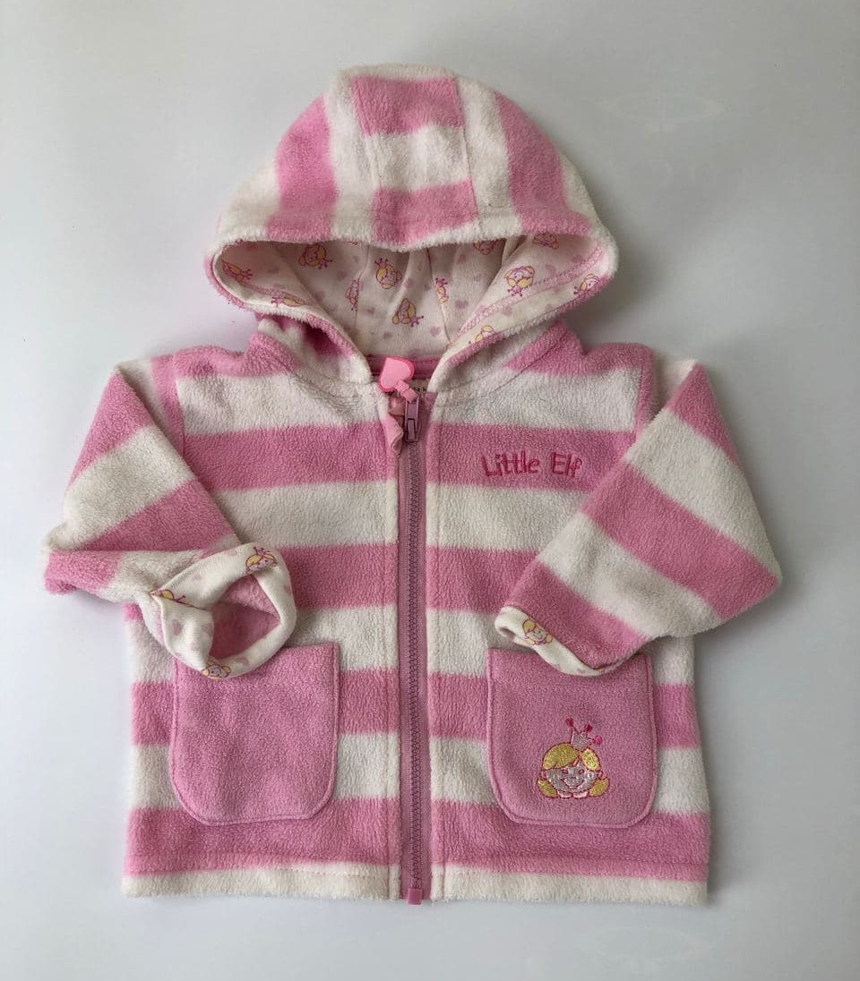 Теплая кофта для девочки на 1-2 месяца
