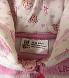 Теплая кофта для девочки на 1-2 месяца, фото 2