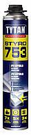 Пена-клей для пенополистирола профессиональная Tytan О2 STYRO 753 GUN В3 750 мл