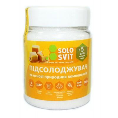 """Сахарозаменитель """"SoloSvit"""" (Эритритол, сукралоза, стевии экстракт) 200 г."""