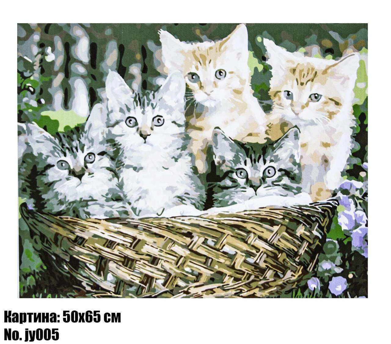 "Картина по номерам ""Котята"" размер 50 х 65 см, код JY005"