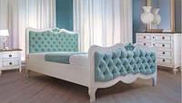 Кровать Элен из дерева с каретной стяжкой, фото 1