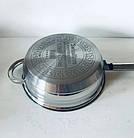 Набор кастрюль SwissHaus 6 шт (12 предметов) с многослойным дном из нержавеющей стали, набор кухонной посуды, фото 3
