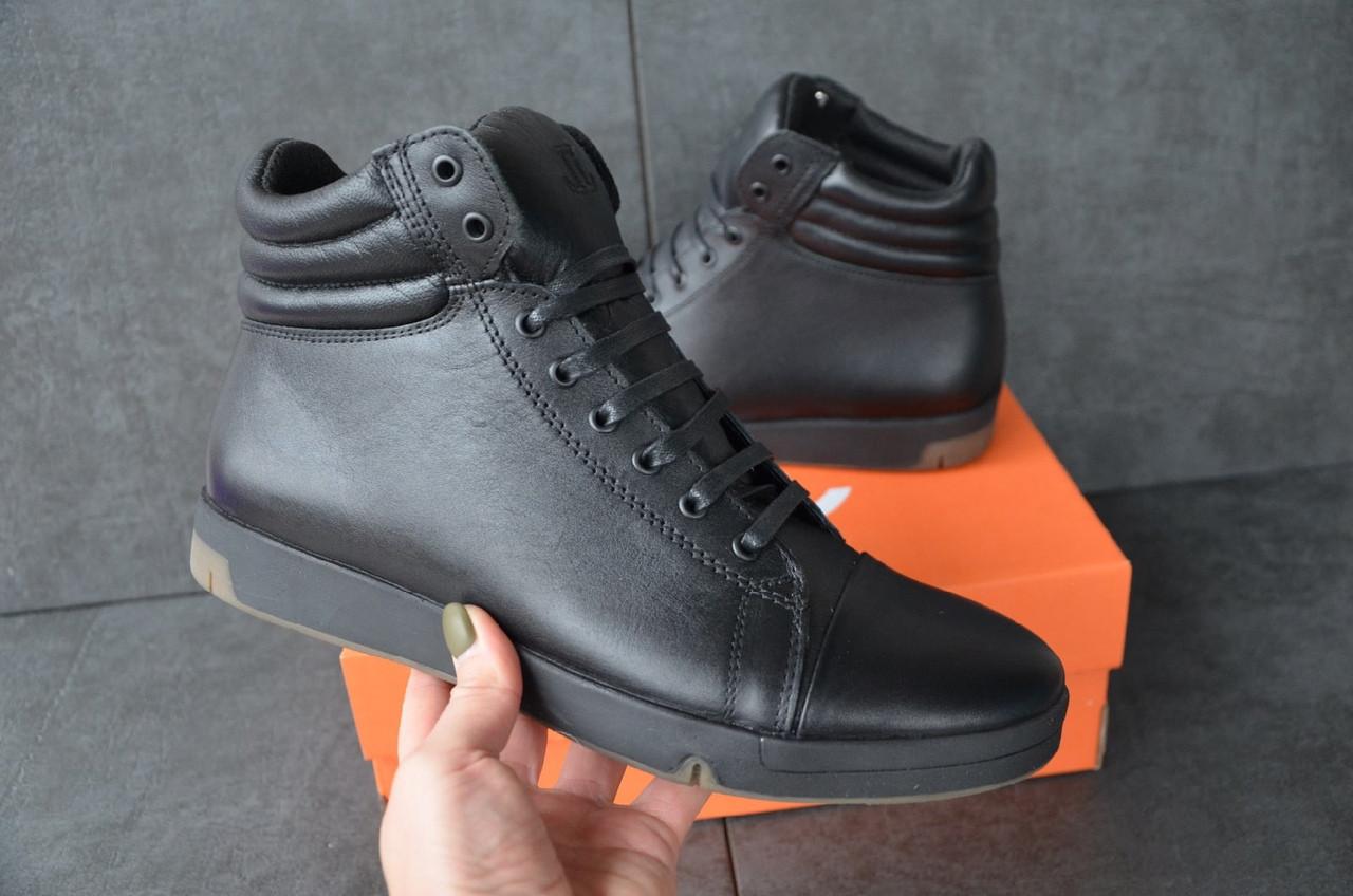 """Зимние кроссовки, ботинки на меху Level """"Черные"""""""