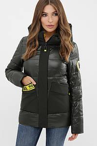 Куртка женская серо-зеленый 289