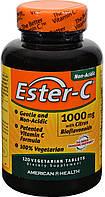 Витамин С, Эстер С, Ester-C, с цитрусовыми биофлавоноидами American Health, 1000 мг, 120 вегетарианских табл., фото 1