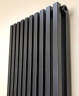 Дизайнерский вертикальный радиатор Quantum 2 1800/405 черный 16-18 м.кв. Betatherm (Венгрия), фото 1