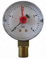 "Манометр Arthermo MA501/P 1/4"" (Ø50 мм, 0-6 бар) радиальный, нижний выход"