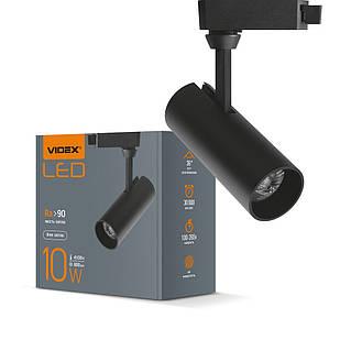 LED светильник трековый VIDEX 10W 4100K черный VL-TR04-104B 25911