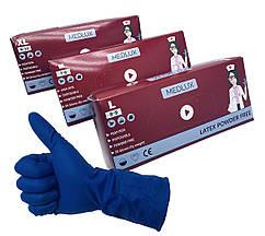 Перчатки медицинские нестерильные, неопудренные MEDLUX, размер — М, уп. — 25 пар