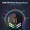 Игровая компьютерная мышь USB  с RGB подсветкой onikuma CW903 черная, геймерская, проводная для компьютера, фото 2