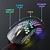 Игровая компьютерная мышь USB  с RGB подсветкой onikuma CW903 черная, геймерская, проводная для компьютера, фото 5
