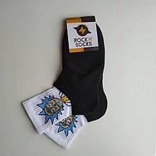 Носки теплые с махрой зимние с принтом РИК размер 37-42 one size