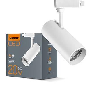 LED светильник трековый VIDEX 20W 4100K белый VL-TR04-204W 25915