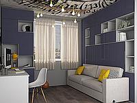Шкаф-кровать трансформер встроенная в стенку с диванчиком
