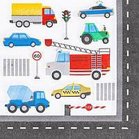 1502-4675 Серветка Машинки 25см 12од/G