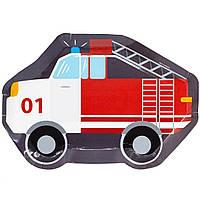 1502-4671 Тарілка фігур Пожежна Машина 25см 6од/G