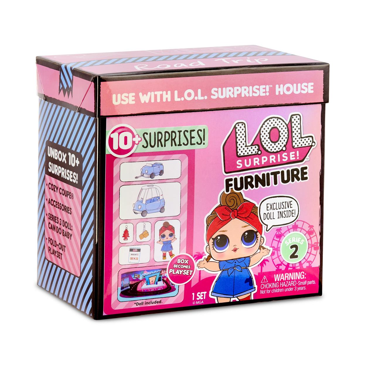 L.O.L. Surprise! Игровой набор Автопутешествие с машинкой  Furniture Road Trip with Can Do Baby