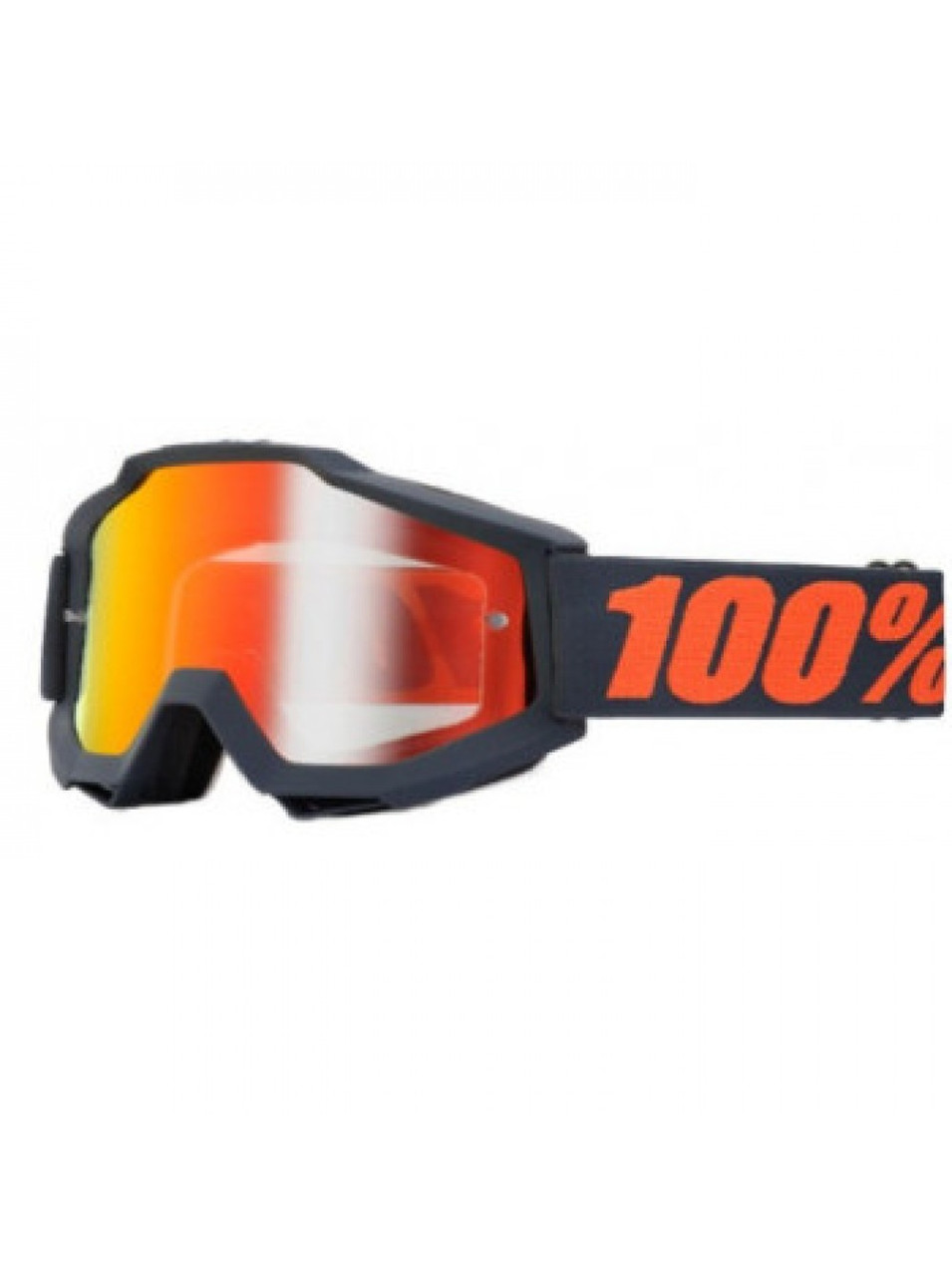 Кроссовые мотоочки 100% ACCURI Goggle Matte Gunmetal Mirror Red Leans