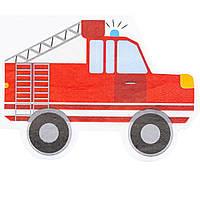 1502-4674 Серветка фігурна Машинки 33см 12од/G