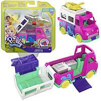 Игровой набор Полли Покет Полливиль Машинка Фургон - трансформер Polly Pocket Mattel GKL49