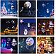 Лазерный проектор уличный новогодний 12в1 комнатный с пультом картинки, фото 7