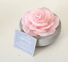 """Декоративна свічка """"Троянда у горщику"""" рожевий віск һ6см Гранд Презент 1014359-2Р"""
