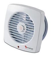Вытяжной вентилятор с решеткой Eraplast , бытовой настенный 100 мм; 12 Вт; белый