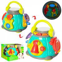 Игрушка развивающий центр погремушка Hola Toys Капсула караоке 3119