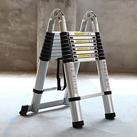 Телескопическая лестница STANLEY / INTERTOOL трансформер алюминиевая стремянка раскладная 3,8 м SW-T3038