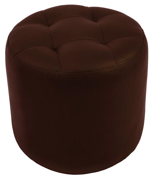 Пуф Винс шоколадный коричневый кожзам Rich